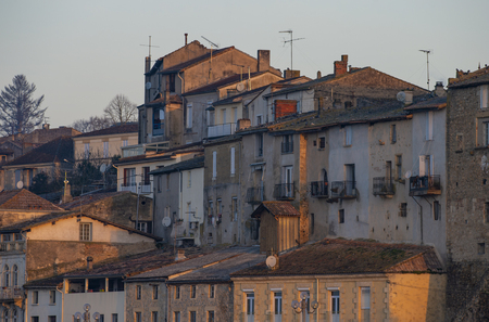 City of La Reole in the South of France, Gironde, Aquitaine
