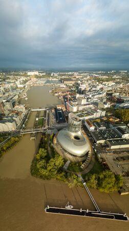 BORDEAUX, FRANCE, October 25 2019: La Cite du Vin, the wine museum of Bordeaux near to Garonne River