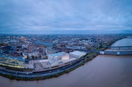 Bordeaux, France, October 25 2019, MECA Museum in Bordeaux France, new museum with a modern architecture and works of art in the Euratlantique district, ARCHITECT BJARKE INGELS