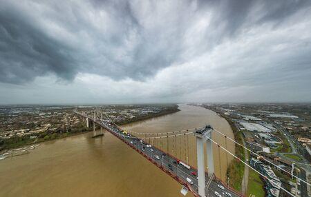 Aerial view of Aquitaine Bridge