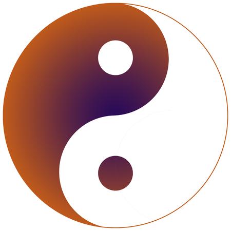 Yin Yang Orange and Purple Фото со стока