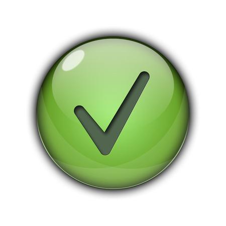 Tick Like Button green Stock Photo