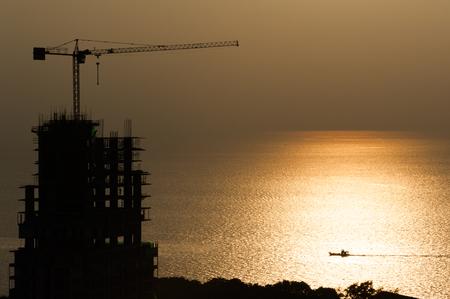 Building Construction near the sea photo