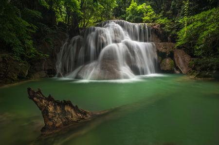 min: Huay Mae Ka Min Waterfall Stock Photo
