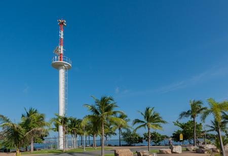 warner: Tsunami Warner Tower near the sea