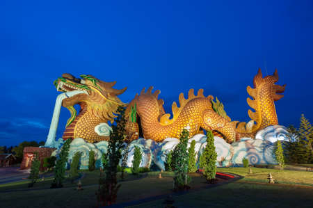 auspicious: Chinese Dragon at Supanburi in Thailand
