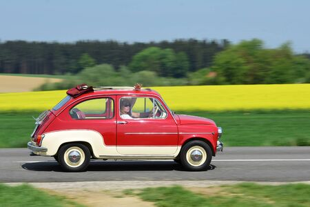 Every year at the end of April, lovers of vehicles with less than 30 HP meet in the Almtal (Upper. In the Almtal (Upper Austria, Austria, Europe) Austria, Austria, Europe)