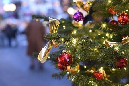 Christmas tree in the pedestrian area in Bad Ischl (Gmunden district, Upper Austria) Reklamní fotografie