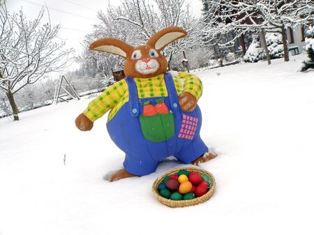 The Easter bunny is a featured rabbit that paints eggs for Easter and hides it in the garden. The children are looking for the Easter eggs on the morning of Easter Sunday.