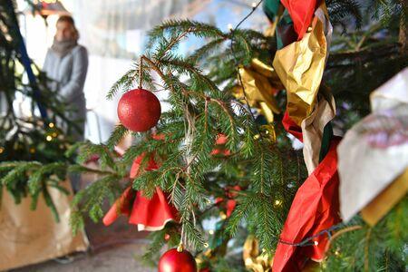 Christmas tree in Laakirchen (Gmunden district, Upper Austria) - Christmas tree in Laakirchen (Gmunden district, Upper Austria)