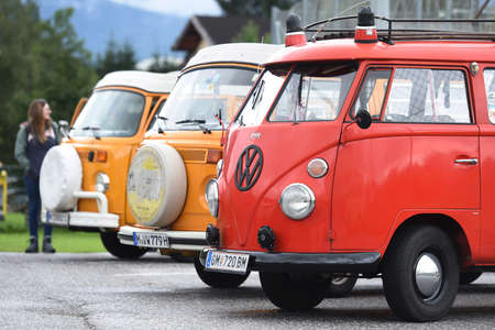 VW classics at Postalm (Salzburg, Austria) - Every year in September, fans of VW classics with a rear engine meet at Postalm in Salzburg (Austria).