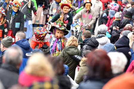 Carnival in the Salzkammergut - there is still a good party here - on the picture the Fetzenzug in Ebensee (Gmunden district, Upper Austria, Austria) Editorial