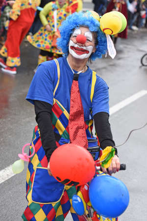 A clown at a carnival parade in the Salzkammergut