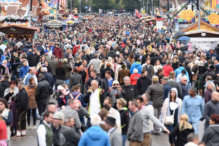 Many people at the Octoberfest in Munich Editorial