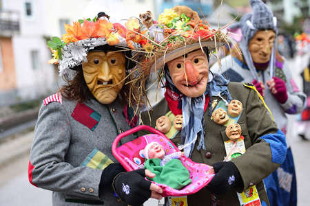 Carnival in the Salzkammergut - there is still a good party here (Gmunden district, Upper Austria, Austria) Editoriali