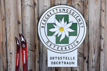 Mountain rescue in the Krippenstein Dachstein ski area (Obertraun, Salzkammergut, Gmunden District, Upper Austria, Austria) Editoriali