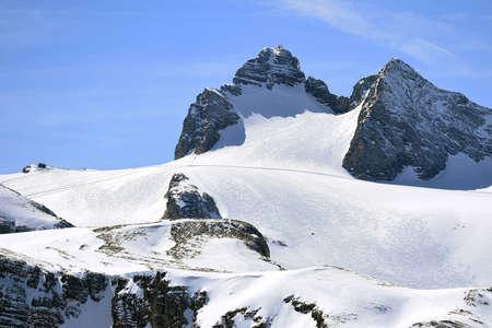 The Dachstein mountain in the Salzkammergut (Obertraun, Gmunden district, Upper Austria, Austria) is 2995 meters high