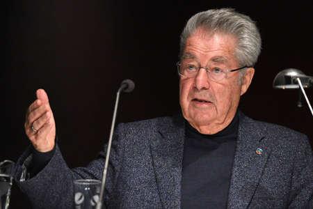 the former Federal President Heinz Fischer during a lecture in Steyrermühl (Upper Austria) Editoriali