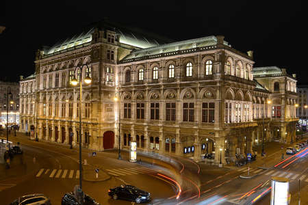 Vienna at night - State Opera (Austria). Editoriali