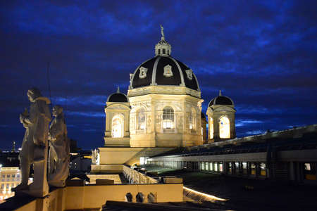 Vienna at night - Naturehistorical Museum (Austria). Editoriali