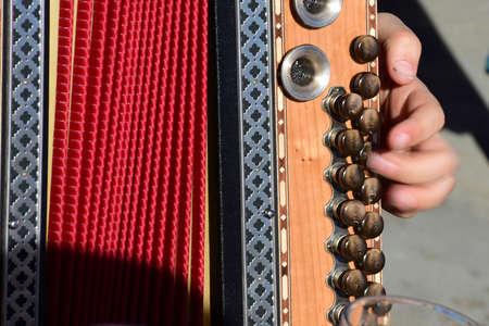 Styrian harmonica - a typical musical instrument in the Salzkammergut (Gmunden district, Upper Austria, Austria)