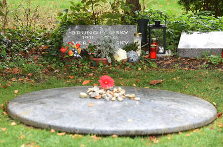 The grave of honor of the former Austrian Chancellor Bruno Kreisky in the Central Cemetery in Vienna