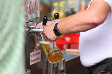 Beer tap at a festival in Austria