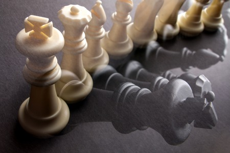 multiple image: row chessmen Multiple chess background image illustration