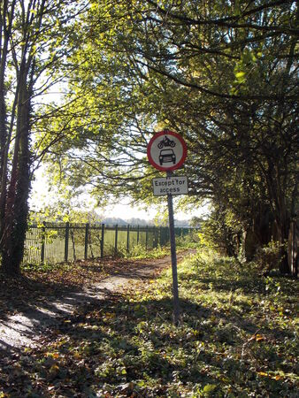 Footpath and Road Sign photo