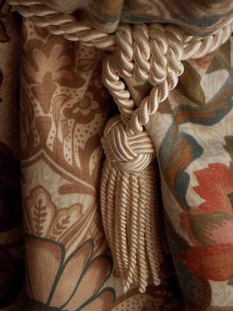 tassles: Curtain Tieback Stock Photo