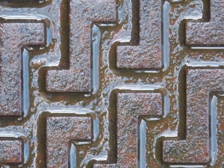 Wet Drain Cover Stock Photo - 25275390