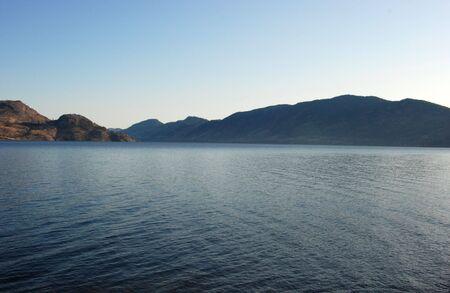 Beautiful view on Lake Okanagan in Peachland Stock Photo