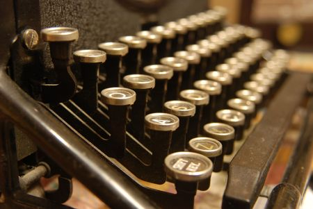 The Keyboard of an old dusty typewriter