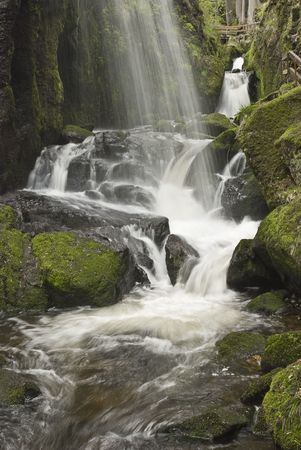 A beautiful waterfall found in black forrest with soft water shot with long exposure.