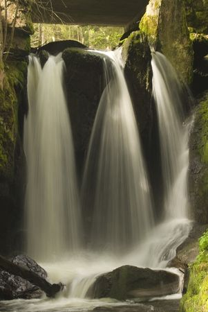 A beautiful waterfall with soft water shot with long exposure.