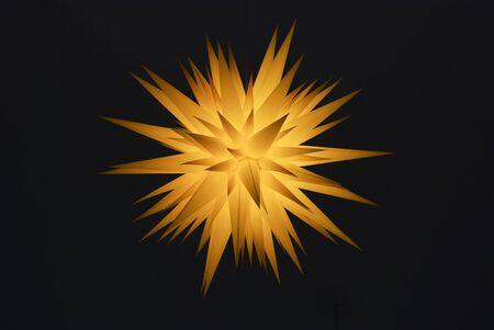 the traditional east german herrnhut star - handmade of paper Stock Photo