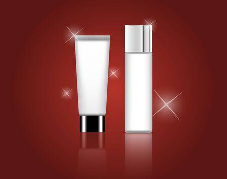 Moderne Forfait Beauté Cosmetic produit Vector Présentation
