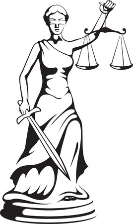 Themis - a goddess of justice Vector