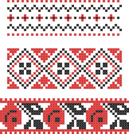 Embroidery Slavic cross pattern Vector