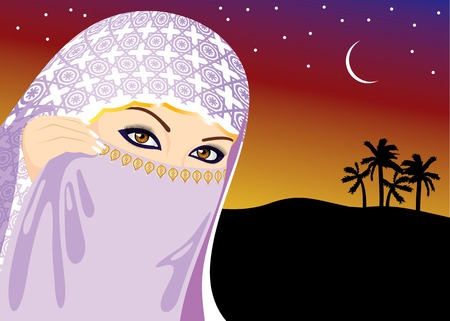 purdah: Muslim Woman Illustration