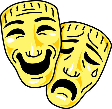 theatrical: Theatre comedy and tragedy masks