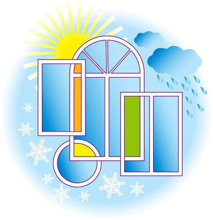 rain window: Windows and weather.