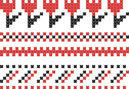Slavic embroidery. Vector