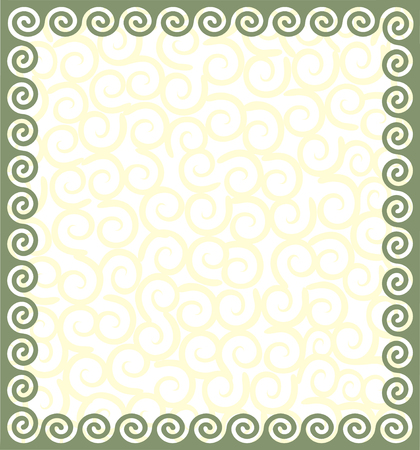 Frame with a meander. Vector