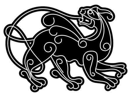slavic: Simargl. Slava animale mitico.  illustrazione. Vettoriali