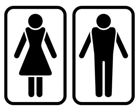 man vrouw symbool: Male & Female symbool.