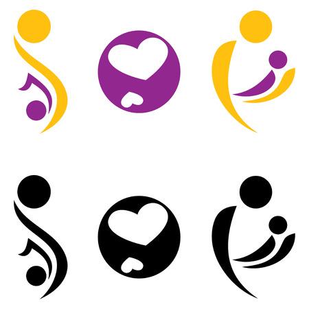 maternity: Pregnancy and motherhood symbol. Vectir illustration.