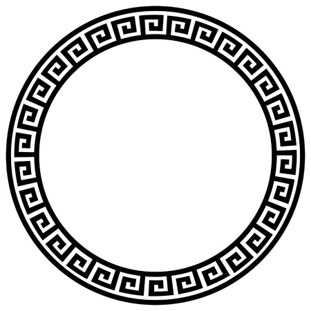 stone circle: Round frame with a meander.
