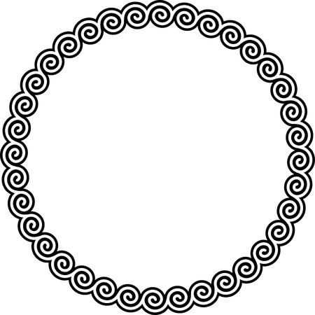 Round frame with meander. Stock Vector - 8517565