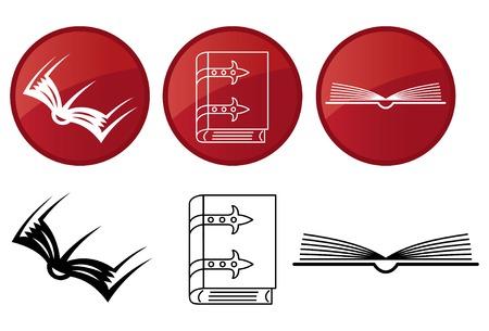 book logo: Libros, conjunto de iconos.